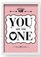 All About Wall You Are The One Poster Pembe